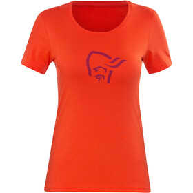 Norrøna /29 cotton logo T-Shirt Women hot chili